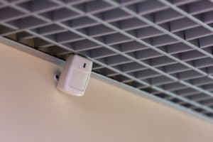 Security motion sensor installed in a Penrith home