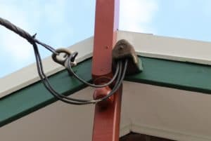 A photo of a residential power connection connected to a home in Sydney's West